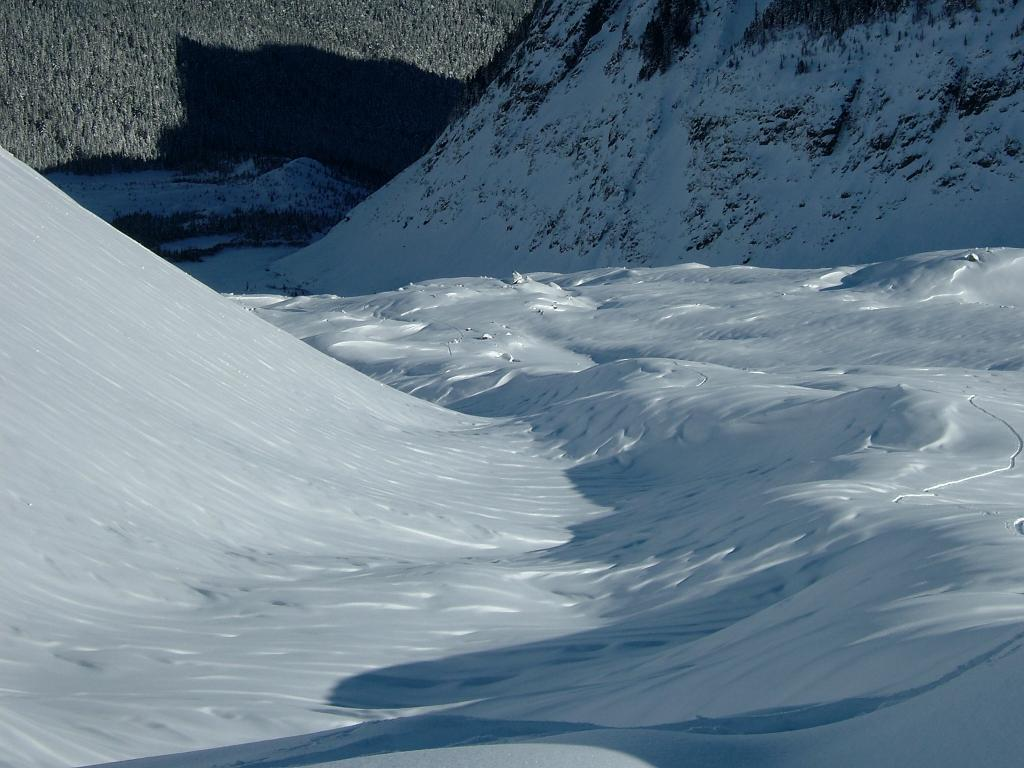 Midwinter skin track on the Emmons glacier