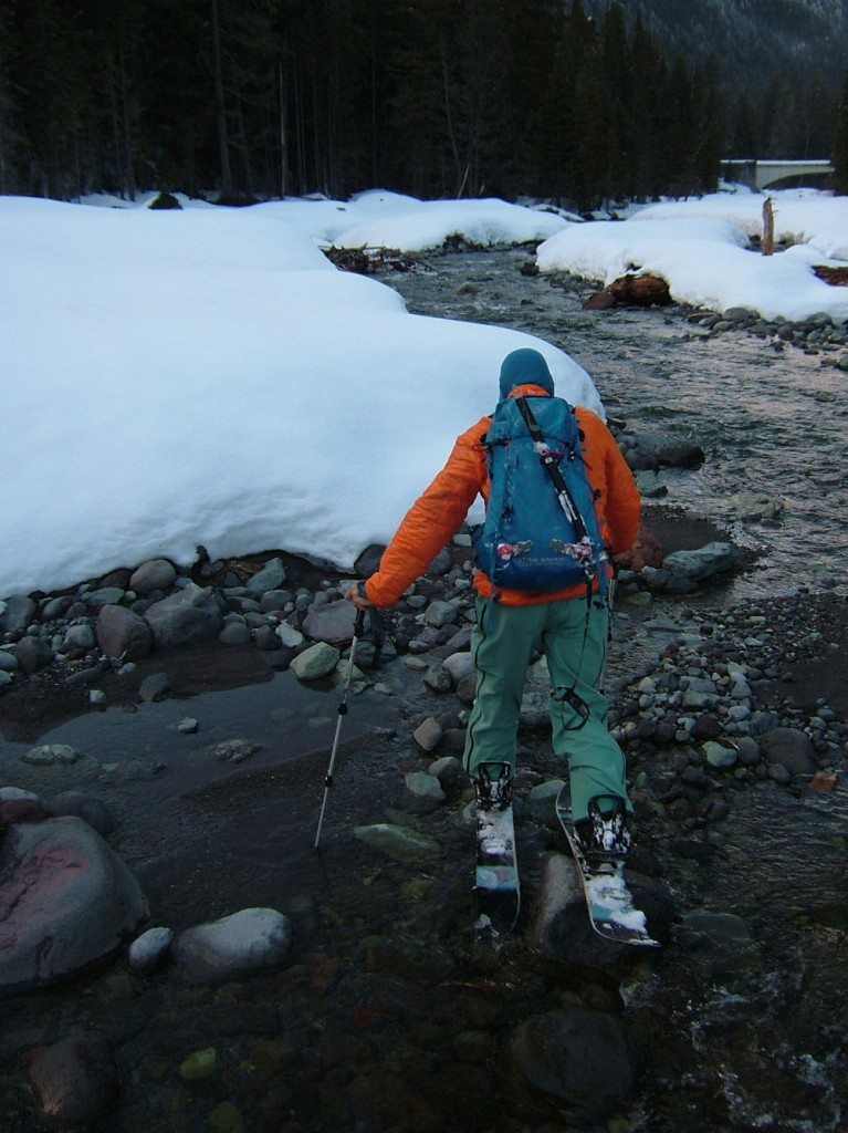 Literally skinning on Fryingpan Creek