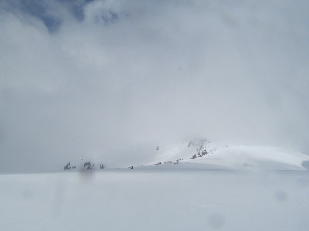 Whiteout on Banshee Peak