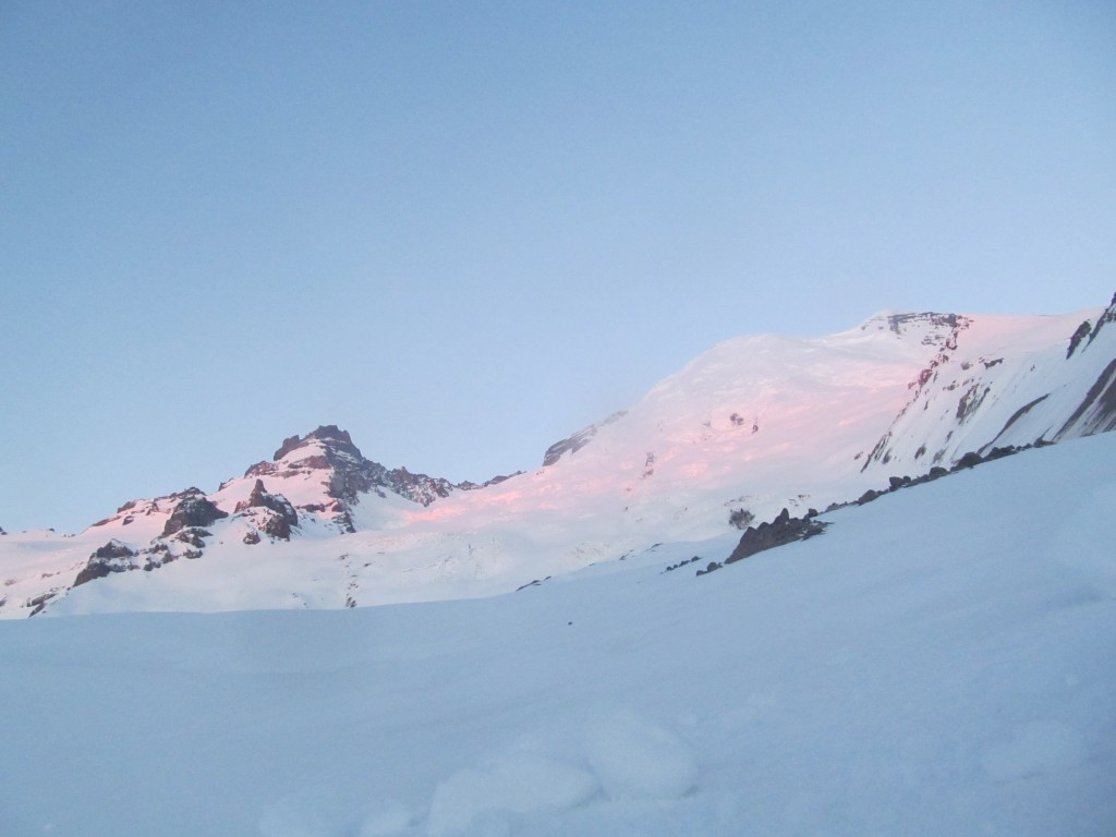 Alpenglow on the Emmons from the Emmons