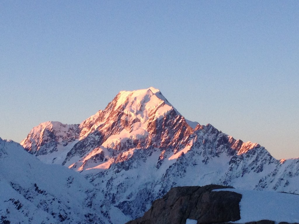 Sunset Alpenglow on Mt. Cook