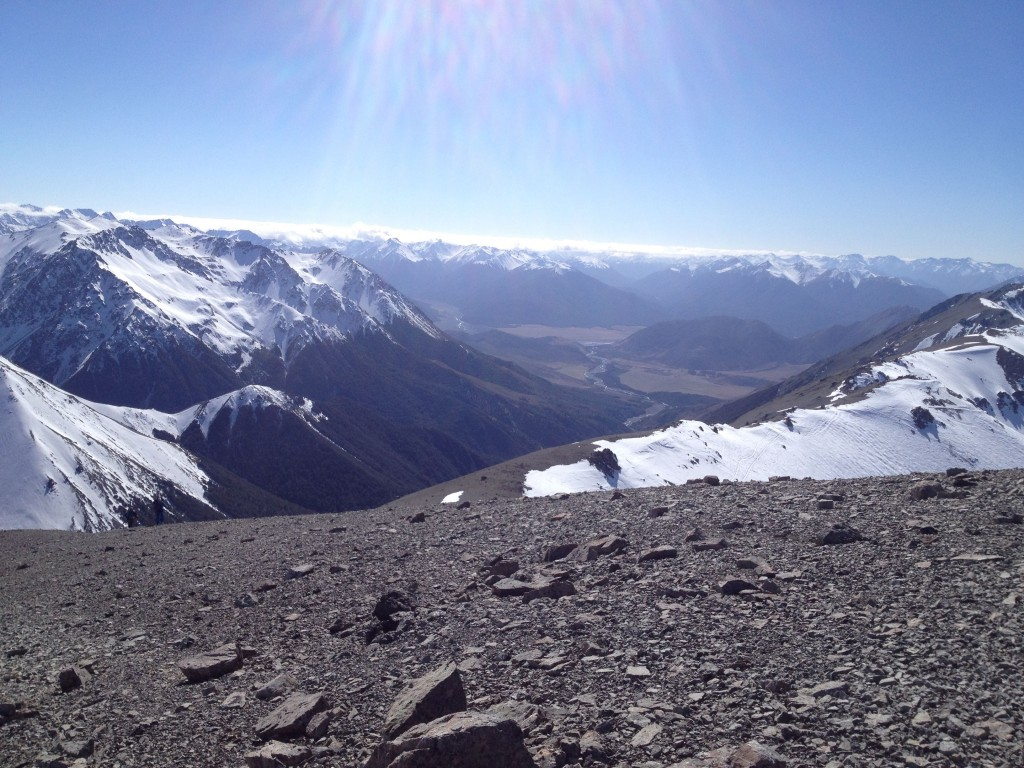 Looking north towards Arthurs Pass and the Main Divide