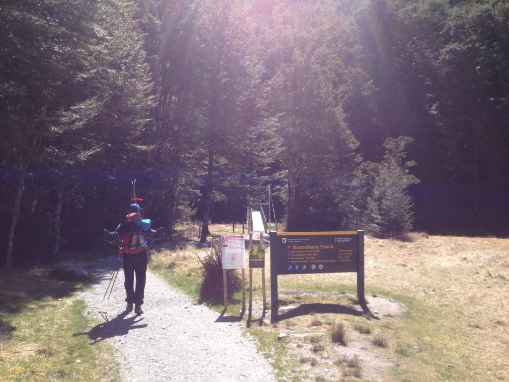 Heading into the Routeburn Track
