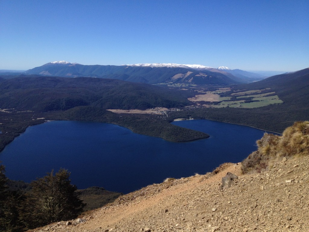 Looking down at Lake Rotoiti