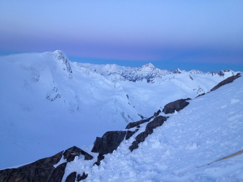 Looking towards the Murchison Glacier
