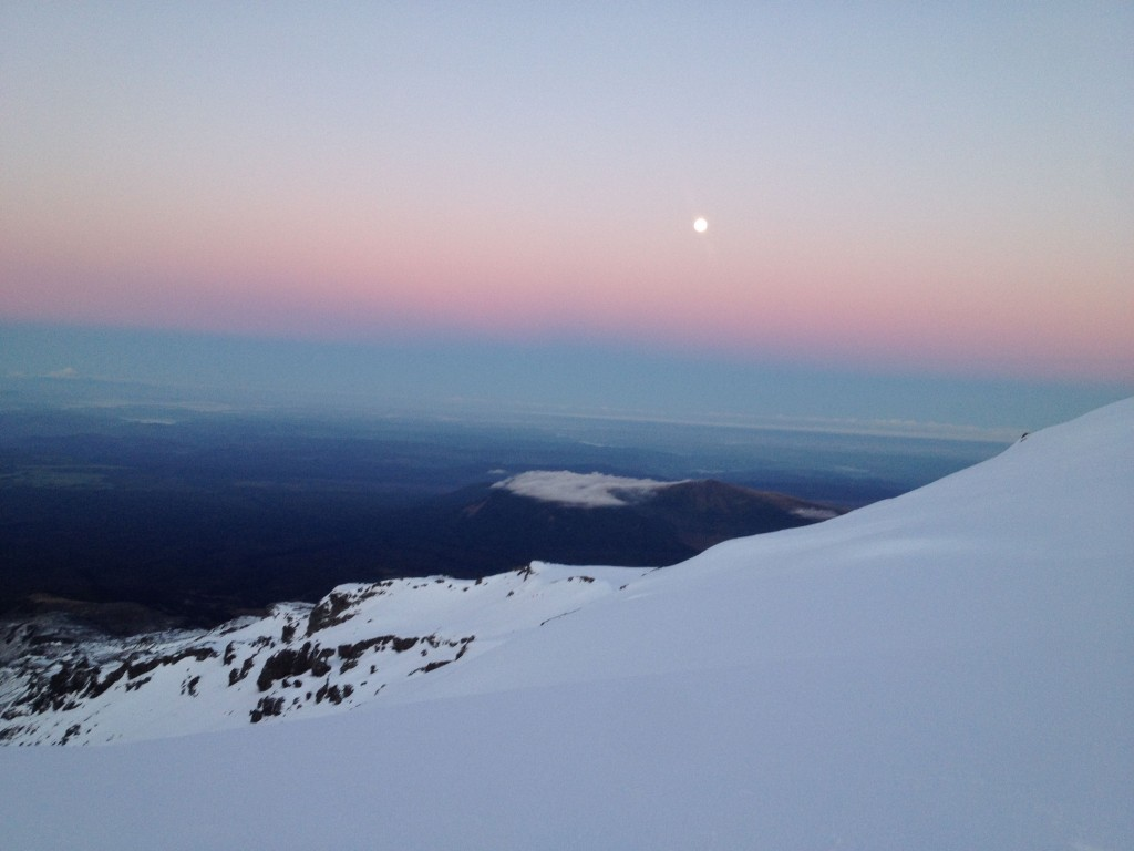 Powder, Full moon and sunrise= perfection